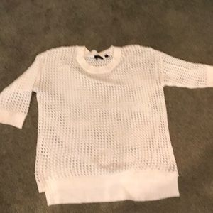 White spring/summer sweater